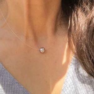 925 STERLING SILVER INVISIBLE CHOKER  NECKLACE